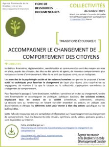 Accompagner le changement de comportement des citoyens – Transition écologique
