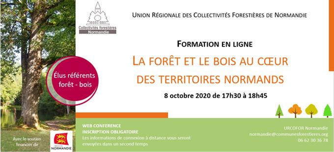 [8 octobre 2020] La forêt et le bois au cœur des territoires normands. Formation en ligne pour les nouveaux élus