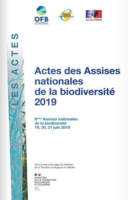 Actes des 9es Assises nationales de la biodiversité 2019, 19-21 juin 2019, Massy