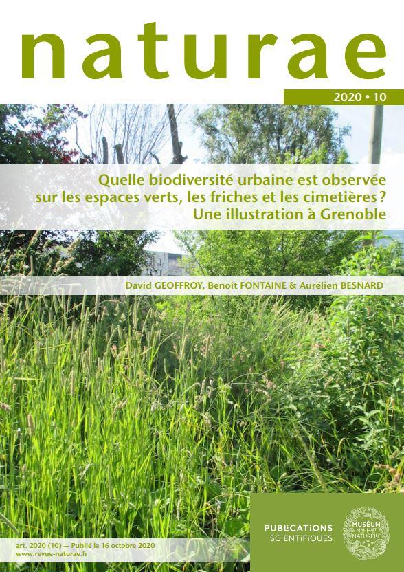Quelle biodiversité urbaine est observée sur les espaces verts, les friches et les cimetières? Une illustration à Grenoble