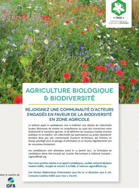 [Appel à candidatures] Agriculture biologique & Biodiversité