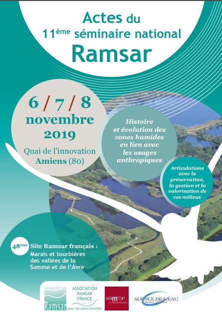 Actes du 11ème séminaire Ramsar – Histoire et évolution des zones humides en lien avec les usages anthropiques, 6-8 novembre 2019, Département de la Somme