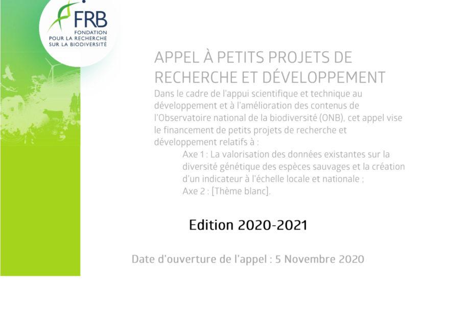 [Appel à projets] APPR&D dans le cadre des travaux de l'Observatoire national de la biodiversité (ONB) – Année 2020-2021
