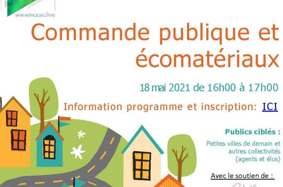 [Webinaire] Commande publique et écomatériaux