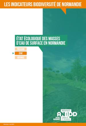 État écologique des masses d'eau de surface en Normandie