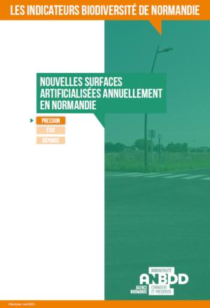 Nouvelles surfaces artificialisées annuellement en Normandie