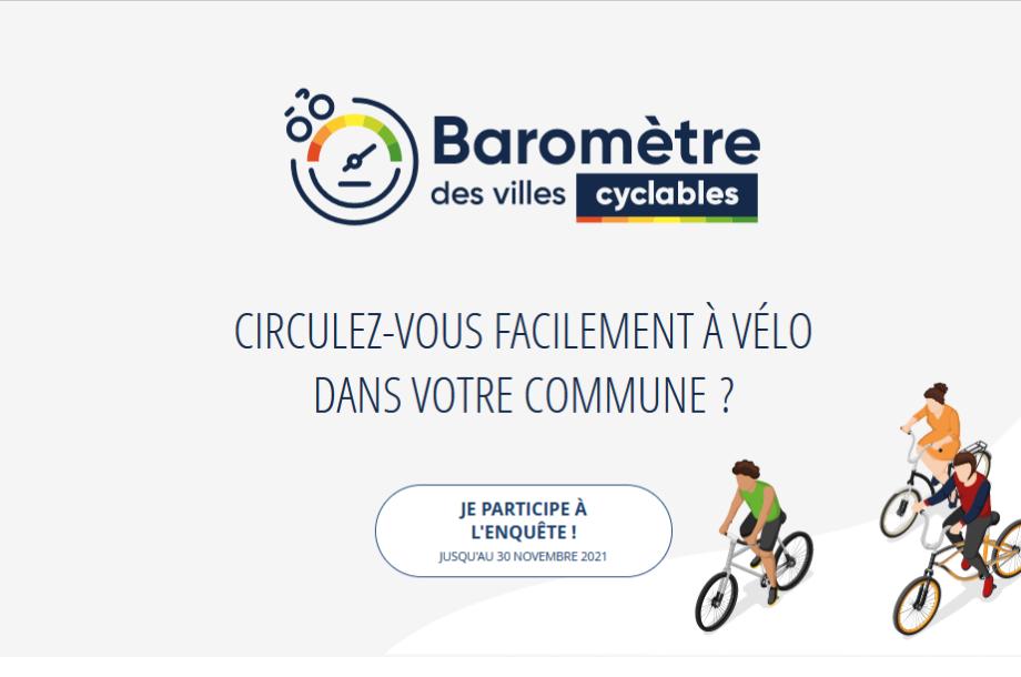 [enquête nationale]  Baromètre des villes cyclables